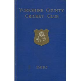 YORKSHIRE COUNTY CRICKET CLUB 1930 [ANNUAL]