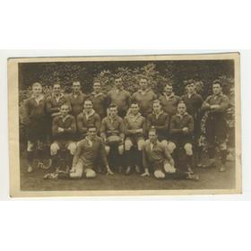 REDRUTH XV 1928-29 RUGBY POSTCARD