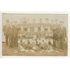 REDRUTH XV 1905-06 RUGBY POSTCARD