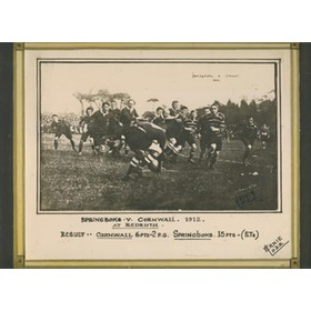 CORNWALL V SOUTH AFRICA 1912 RUGBY PHOTOGRAPH