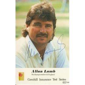 ALLAN LAMB (NORTHANTS) SIGNED PHOTO