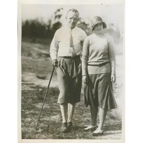 GLENNA COLLETT AND HER HUSBAND 1931 PRESS PHOTOGRAPH