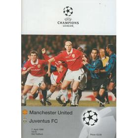 MANCHESTER UNITED V JUVENTUS 1999 (CHAMPIONS LEAGUE) FOOTBALL PROGRAMME
