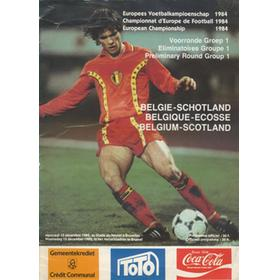 BELGIUM V SCOTLAND 1984 FOOTBALL PROGRAMME