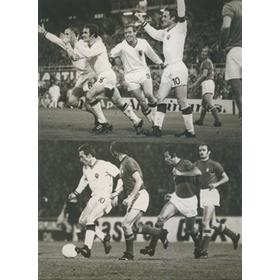 BELGIUM V ITALY 1972 - 4 ORIGINAL PHOTOGRAPHS
