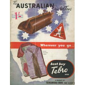 THE NATIONAL BROCHURE OF THE AUSTRALIAN CRICKET TOUR OF SOUTH AFRICA AND RHODESIA 1949-50