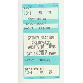 AUSTRALIA V BRITISH LIONS 1989 (3RD TEST) TICKET
