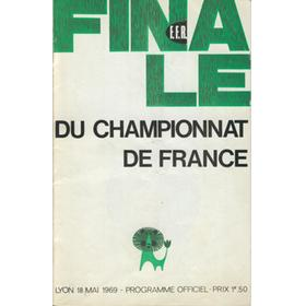 C.A. BEGLAIS V STADE TOULOUSAIN 1969 (FRENCH CHAMPIONSHIP FINAL) RUGBY PROGRAMME