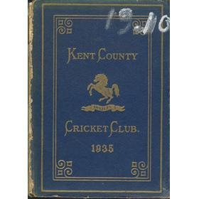 KENT COUNTY CRICKET CLUB 1935 [BLUE BOOK]