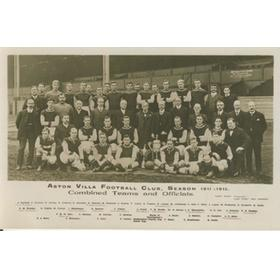ASTON VILLA 1911-12 FOOTBALL POSTCARD
