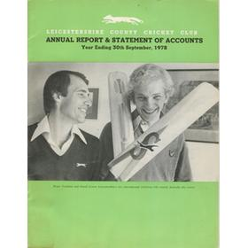 LEICESTERSHIRE COUNTY CRICKET CLUB 1978 ANNUAL REPORT AND STATEMENT OF ACCOUNTS