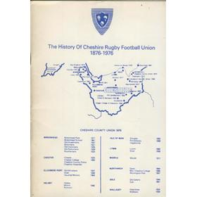 THE HISTORY OF CHESHIRE RUGBY FOOTBALL UNION 1876-1976