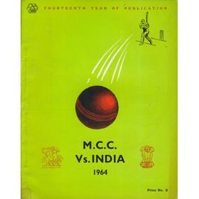 ENGLAND TOUR OF INDIA 1963-64 CRICKET BROCHURE