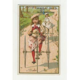 TRICYCLE ADVERTISING CARD - CHOCOLAT IBLED, MONDICOURT