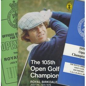 OPEN CHAMPIONSHIP 1976 (ROYAL BIRKDALE) GOLF PROGRAMME