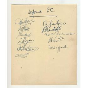 ILFORD FOOTBALL CLUB 1947 SIGNED ALBUM PAGE