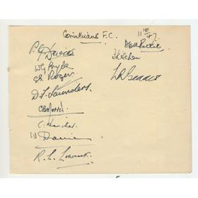 CORINTHIAN-CASUALS FOOTBALL CLUB 1947 SIGNED ALBUM PAGE
