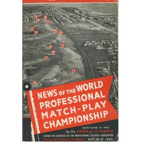NEWS OF THE WORLD PROFESSIONAL MATCH-PLAY CHAMPIONSHIP 1947 GOLF PROGRAMME - SIGNED BY TWO FINALISTS
