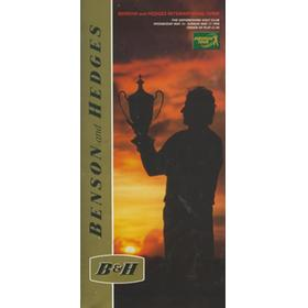 BENSON AND HEDGES INTERNATIONAL OPEN GOLF TOURNAMENT 1998 - ORDER OF PLAY