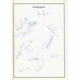 GLOUCESTERSHIRE V HAMPSHIRE 1989 CRICKET PROGRAMME - SIGNED BY BOTH TEAMS