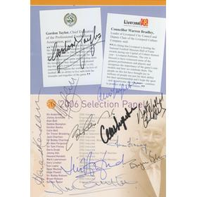 NATIONAL FOOTBALL MUSEUM HALL OF FAME DINNER MENU 2006 - PROFUSELY SIGNED