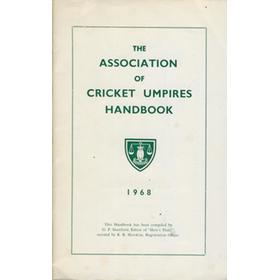 THE ASSOCIATION OF CRICKET UMPIRES HANDBOOK 1968