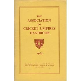 THE ASSOCIATION OF CRICKET UMPIRES HANDBOOK 1964