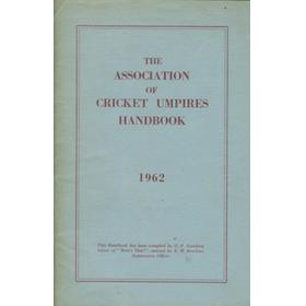 THE ASSOCIATION OF CRICKET UMPIRES HANDBOOK 1962