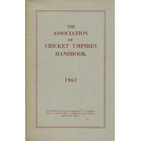 THE ASSOCIATION OF CRICKET UMPIRES HANDBOOK 1961