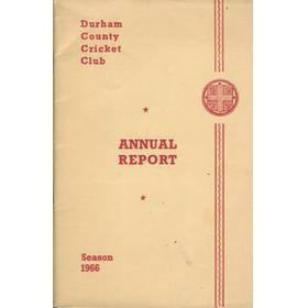 DURHAM COUNTY CRICKET CLUB ANNUAL REPORT 1966