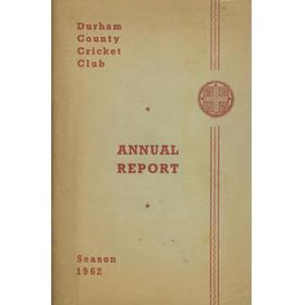 DURHAM COUNTY CRICKET CLUB ANNUAL REPORT 1962