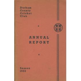 DURHAM COUNTY CRICKET CLUB ANNUAL REPORT 1955