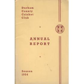 DURHAM COUNTY CRICKET CLUB ANNUAL REPORT 1954
