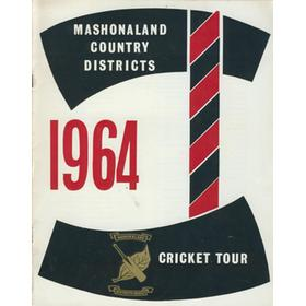 MASHONALAND COUNTRY DISTRICTS TOUR TO BRITAIN 1964
