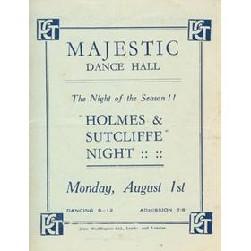 """HOLMES AND SUTCLIFFE"" NIGHT - MAJESTIC DANCE HALL, LEEDS 1920S"