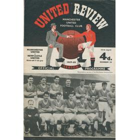 MANCHESTER UNITED V NEWCASTLE UNITED 1957-58 FOOTBALL PROGRAMME