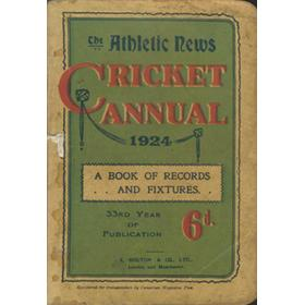 ATHLETIC NEWS CRICKET ANNUAL 1924