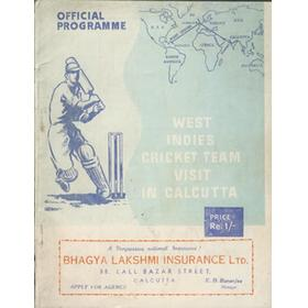 WEST INDIES CRICKET TEAM VISIT IN CALCUTTA 1948-49 OFFICIAL PROGRAMME