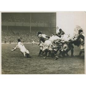 ENGLAND V IRELAND 1935 RUGBY PHOTOGRAPH