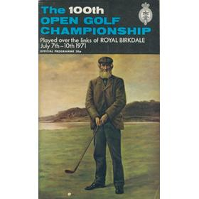 OPEN CHAMPIONSHIP 1971 (ROYAL BIRKDALE) GOLF PROGRAMME