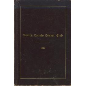 SURREY COUNTY CRICKET CLUB 1929 [HANDBOOK]