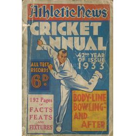 ATHLETIC NEWS CRICKET ANNUAL 1933