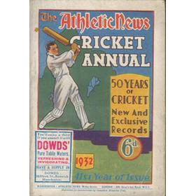 ATHLETIC NEWS CRICKET ANNUAL 1932