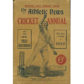 ATHLETIC NEWS CRICKET ANNUAL 1929
