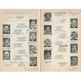 OXFORD V CAMBRIDGE 1961 RUGBY PROGRAMME (SIGNED BY OXFORD TEAM)