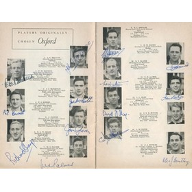 OXFORD V CAMBRIDGE 1960 RUGBY PROGRAMME (SIGNED BY OXFORD TEAM)