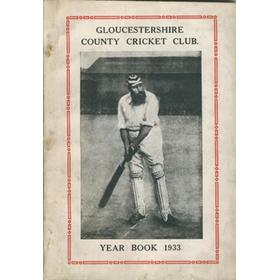 GLOUCESTERSHIRE COUNTY CRICKET CLUB  YEAR BOOK 1933