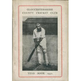 GLOUCESTERSHIRE COUNTY CRICKET CLUB  YEAR BOOK 1931