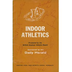 INDOOR ATHLETICS PROGRAMME 1963 (WEMBLEY) - SIGNED BY MARY PETERS AND MANY MORE