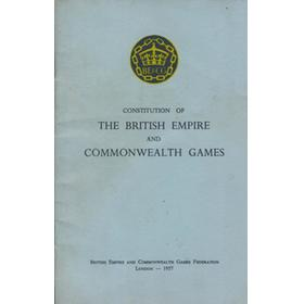 THE CONSTITUTION OF THE BRITISH EMPIRE AND COMMONWEALTH GAMES
